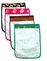 Aakruti Creations 81114GRPGRE209 Set of 4 Slipper Covers