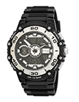 Q&Q Analog-Digital Black Dial Men's Watch - DE10J302Y