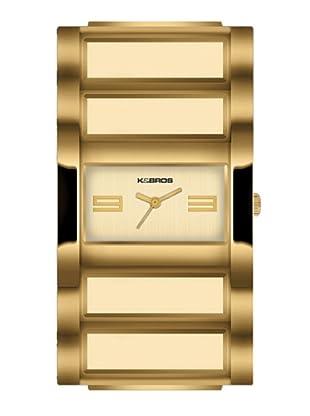 K&BROS 9163-3 / Reloj de Señora  con brazalete metálico dorado