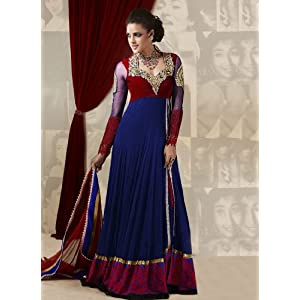 Sky Sarees Neha Dhupia Net and Velvet Anarkali