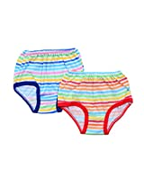 FabSeasons Cotton Striped Panty for Girls, Pack of 2
