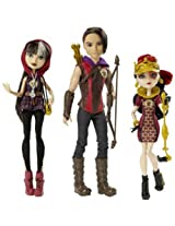 Ever After High Tri Castle On 3 Pack Featuring Hunter Huntsman Cerise Hood And Lizzie Hearts Dolls