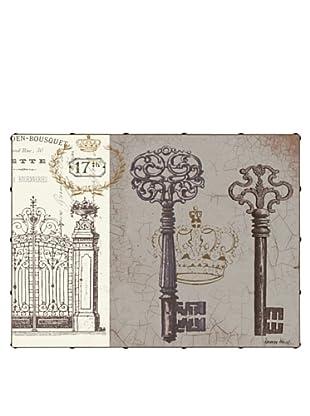 "Kathryn White Key to Secret Garden No. 2 Hand-Embellished Canvas, 24"" x 32"""