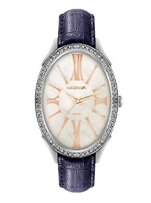 K&BROS 9169-3 / Reloj de Señora  con correa de piel blanco / morado