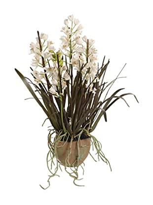 New Growth Designs Faux Cymbidium Orchid, White