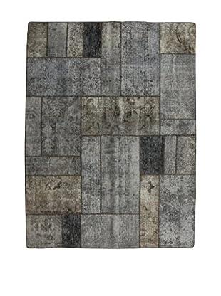 Design Community By Loomier Teppich Revive Vintage Patch grau 153 x 203 cm