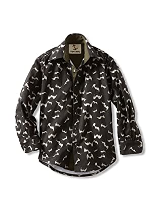 Captain Monkey Boy's The Sebastian Snap-Front Shirt (Black/Grey)