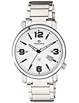 Maxima Analog White Dial Men's Watch - 25461CMGI
