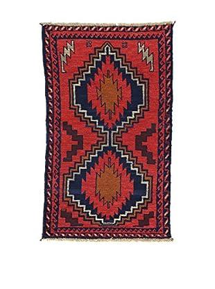 L'EDEN DEL TAPPETO Alfombra Beluchistan Rojo/Multicolor 86 x 142 cm