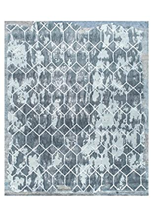 nuLOOM One-of-a-Kind Hand-Knotted Willodean Rug, Grey, 7' 11