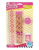 Mattel Barbie Stationery Set, Pink (8 Pieces)