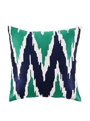 Peking Handicraft Sarah Pillow, Blue/Green