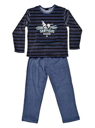 Blue Dreams Pijama Niño Tundosado (Azul)