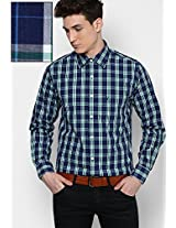 Blue Full Sleeve Casual Shirt Allen Solly