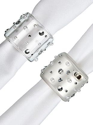 Sia Home Fashion Set De 4 Servilleteros Diamantes