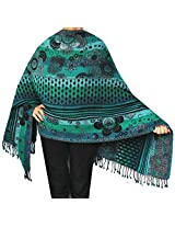 Shawls and Scarves Jamawar Boiled Wool Wrap India Clothing Gift (70 x 28 inches)