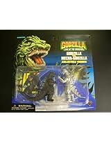 Godzilla King of the Monsters Two-Pack GODZILLA vs MECHA-GODZILLA 4 Figures (1994 Trendmasters)