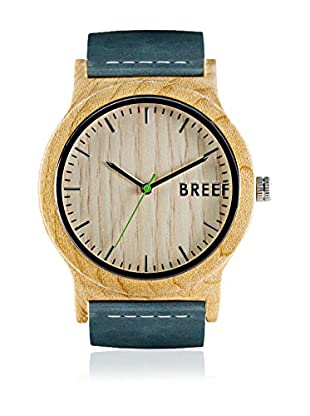 Breef Watches Reloj con movimiento japonés Unisex Maple Original Azul Petróleo 44 mm