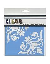 Clear Scraps CSSM6-CRFL Translucent Plastic Film Stencil, Corner Flourish, 6-Inch x 6-Inch