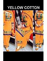 Shree Fashion Woman's Cotton With Dupatta [Shree (1)_Yellow]