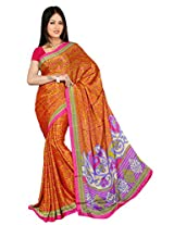 Chinco Saree With Blouse Piece (P1002-B_Orange)