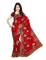 Chandra Silk Mills Embriodered Art Silk Sari