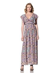 Twinkle by Wenlan Women's Chasing Moonlight Maxi Dress (Castle Garden Radiant)
