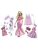 Barbie Fabulous Fashions Doll, Multi Color