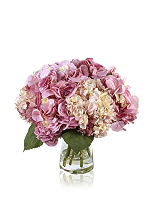 "New Growth Designs Hydrangea, ""Cut"" in Bucket Vase, Pink"
