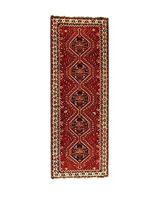 Eden Teppich Shiraz rot/elfenbein 105 x 291 cm