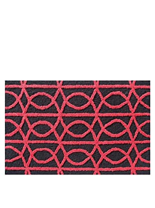 Pop Accents Symmetric Rug (Red/Black)