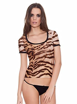 ROBERTO CAVALLI INTIMO Camiseta Tigre (Marrón)