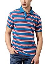 Peter England Striped Premium Fabric Blend Tee