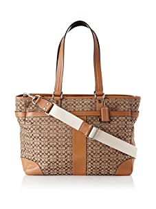Coach Signature Multi-Function Baby Bag Tote, Brown