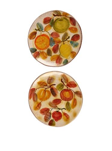 Modigliani Set of 2 Frutta Laccata Dinner Plates, 10