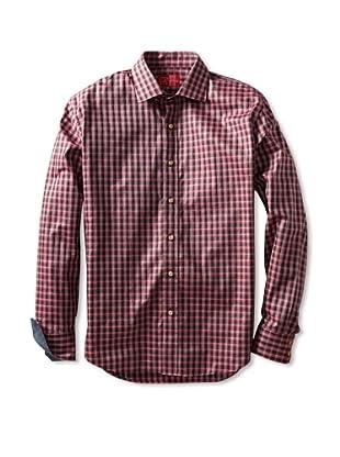 Rufus Men's Button-Up Shirt (Pink Multi Plaid)