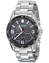 Victorinox Unisex 241618 Chrono Classic Analog Display Swiss Quartz Silver Watch