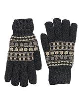 Romano Men's Grey Woollen Winter Gloves