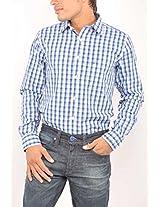 Allen Solly Blue Men Checkered Semi Formal Shirt AMSF513S01558
