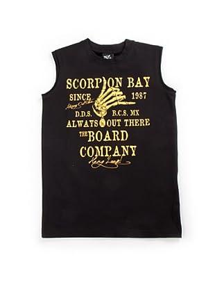 Scorpion Bay Camiseta SM Mano (Negro)