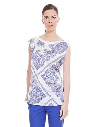 Cortefiel Camiseta Estampada (Azul)