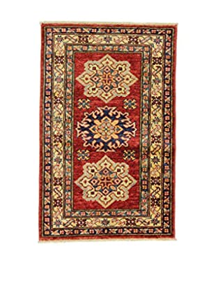 L'EDEN DEL TAPPETO Alfombra Kazak Super Rojo/Multicolor 59 x 92 cm