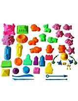 Mukool 45pcs Mold for Kinetic Sand Molds Activity Set for Sands Alive Compatible with Any Molding Sa