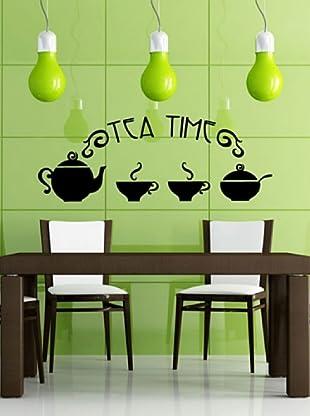 Vinilo Adhesivo Tea time Negro