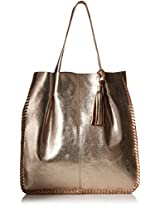 Gottex Women's Gold Rush Metallic Leather Tote