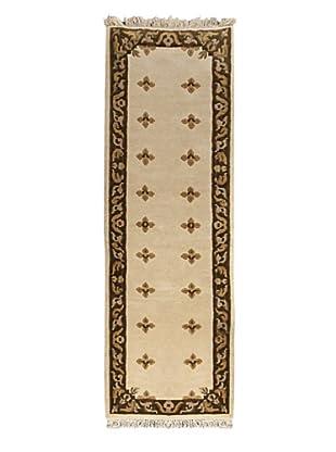 Hand-Knotted Karma Wool Rug, Beige, 2' 5