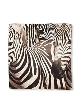CHIC Women's Zebras Digital Square Silk Scarf, Stripes, One Size