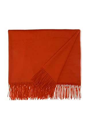 Sofia Cashmere Fringed Woven Throw, Furnace, 55
