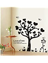 UberLyfe Black Tree of Hearts Wall Sticker for Living Room