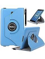 Dell Venue 7 Case, E LV Dell Venue 7 (2013) Case Cover 360 rotating Lightweight case for Venue 7 Tablet (2013) [will ONLY fit Dell Venue 7 (2013) tablet] - LIGHT BLUE